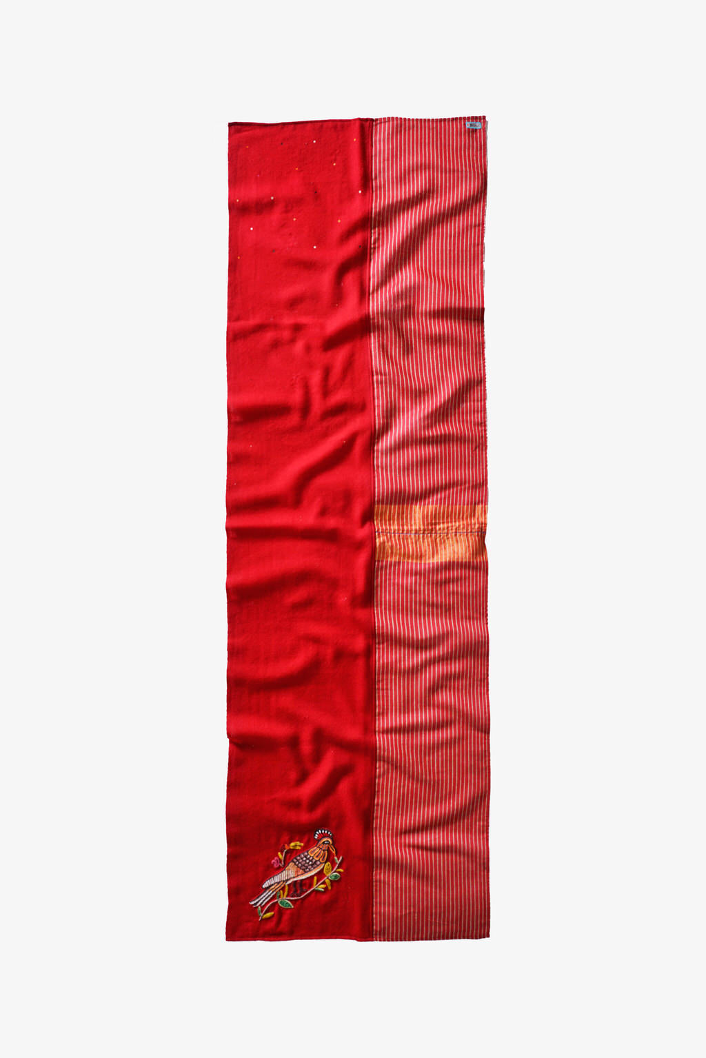 A Symbol of Joyous Freedom - Long Red Silk Woolen Scarf