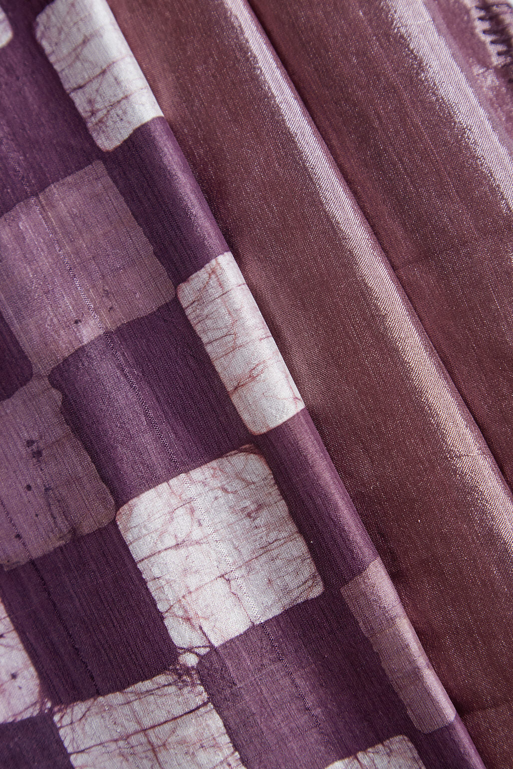 An Imperial Colour - Long Plum Handwoven Silk Scarf & Face Mask
