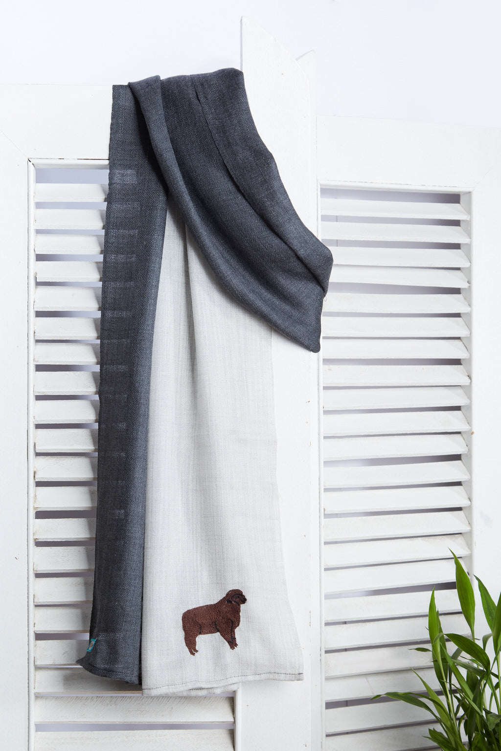 Pure Refinement - Long Slate & Grey Woolen Scarf
