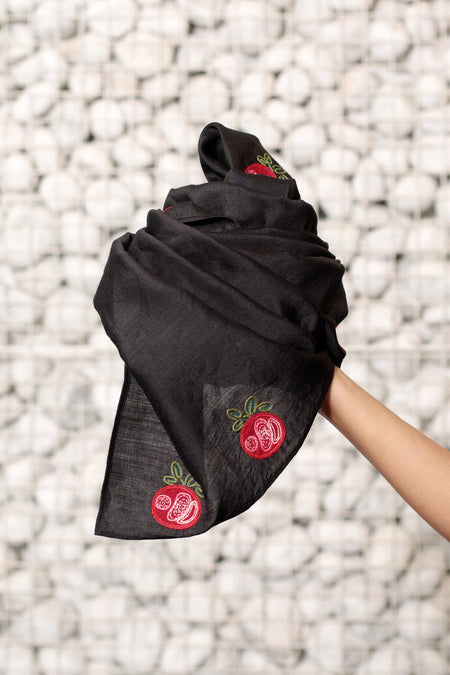 A Gift of Love - Long Black Woolen Scarf