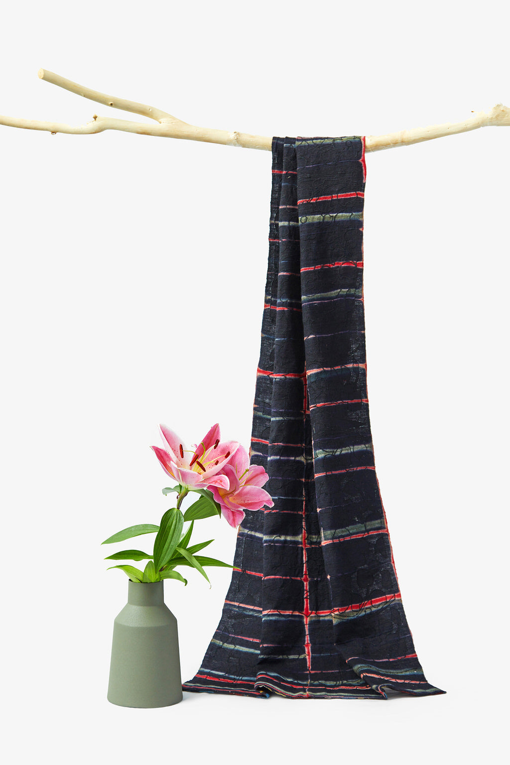 Indie Black - Reversible - Multicolored Cotton Woolen Shawl