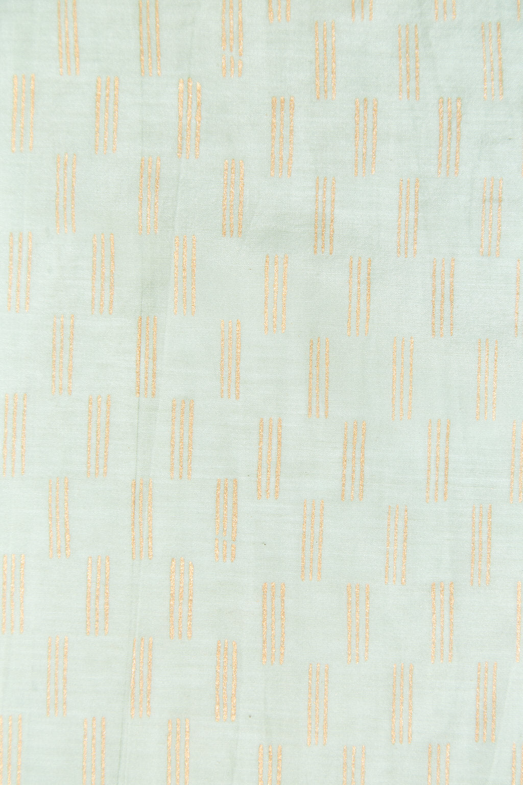 Vertical Lines - Light Green Cotton Silk Pocket Square