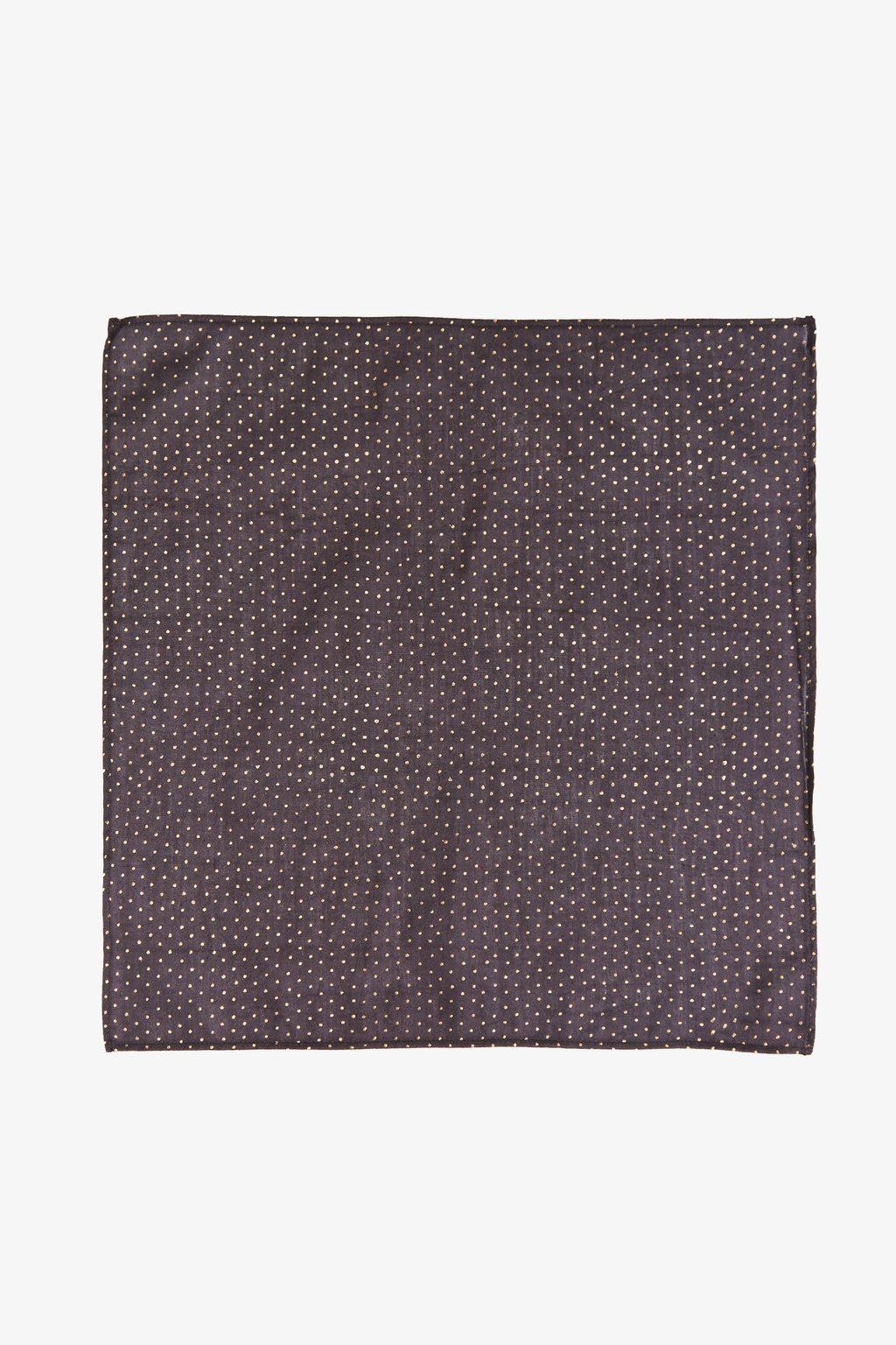 Harmony - Black Cotton Silk Pocket Square