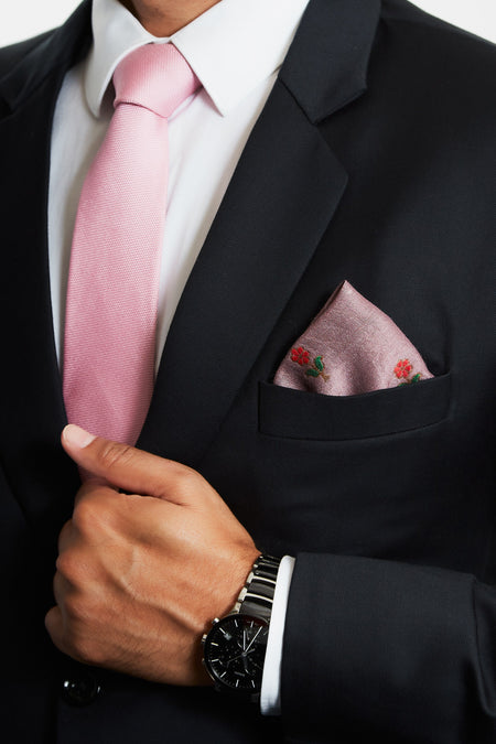 The Dandy - Purple Silk Pocket Square