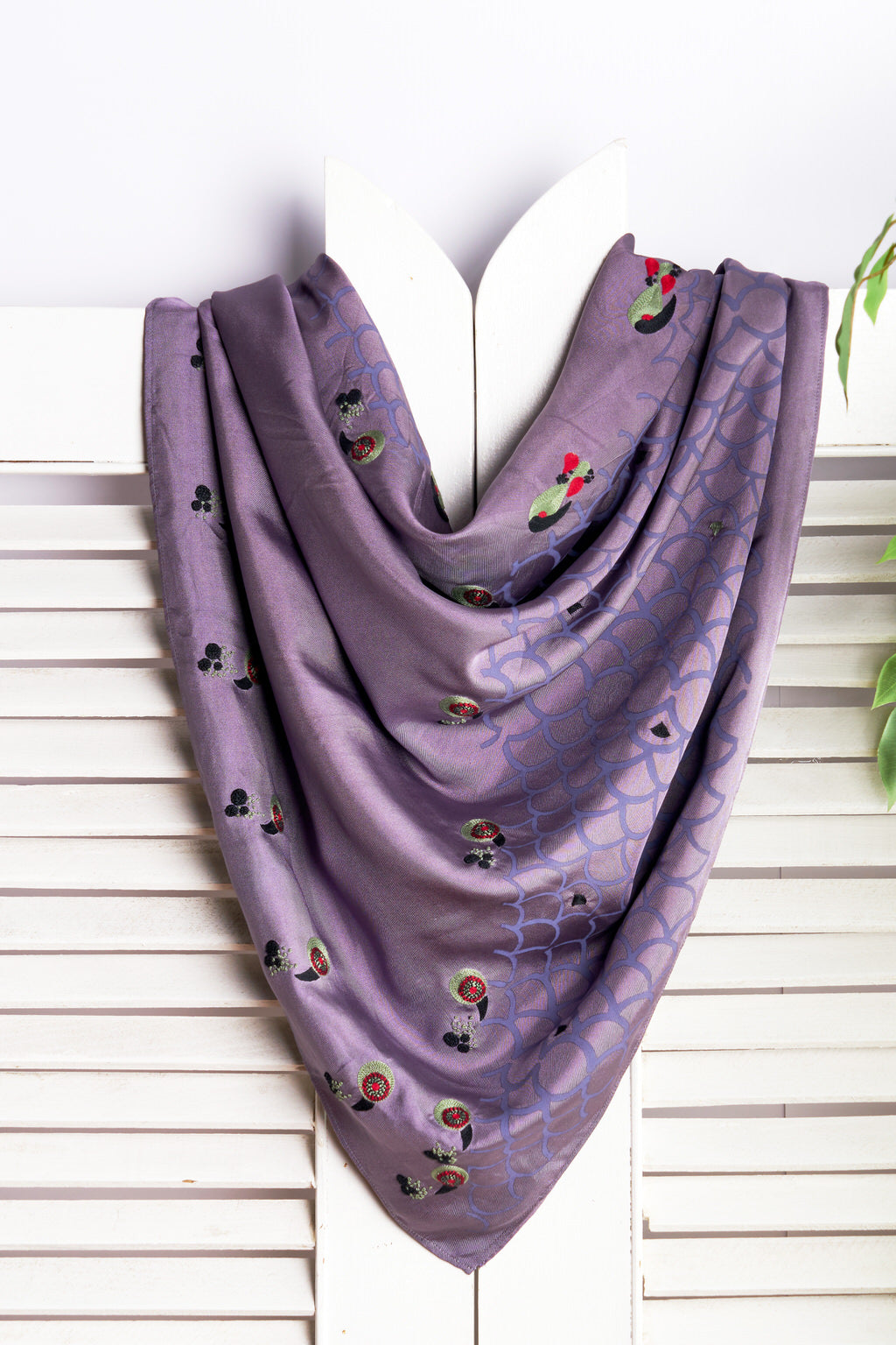 Gorgeousness - Royal Purple Twill Silk Square Scarf