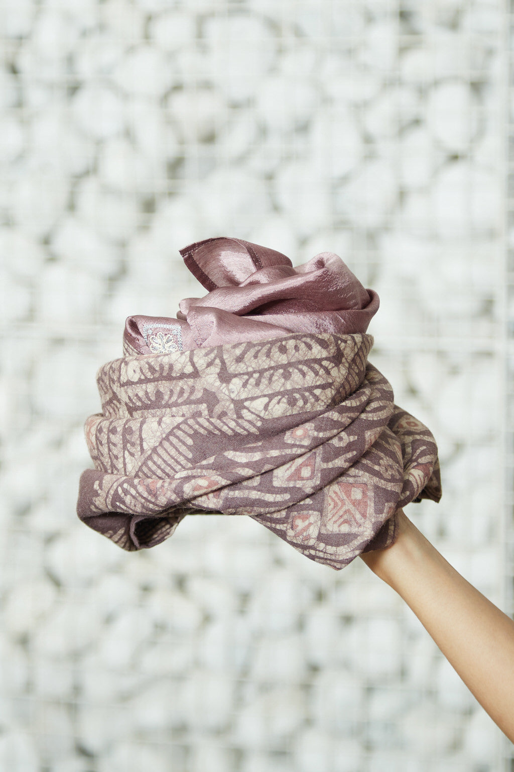 An Ode to Batik - Orchid Silk Square Scarf