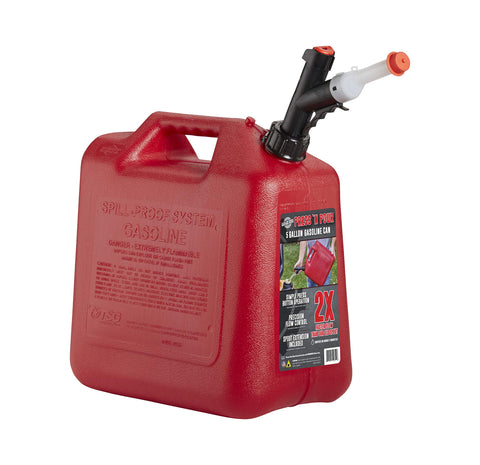 GARAGE BOSS GB351 Briggs and Stratton Press' N Pour Gas Can, 5 gallon, Red