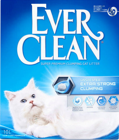 Ever Clean Extra Strong Unscented -kissanhiekka 10 L