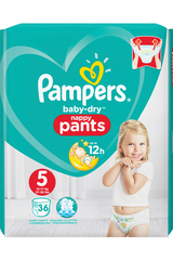 Pampers 36kpl Baby Dry Pants S5 12-17kg housuvaippa