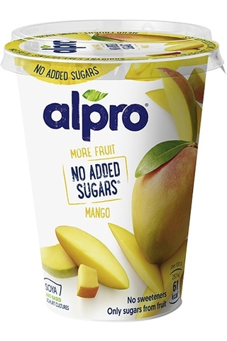 Alpro More fruit, no added sugars Hapatettu soijavalmiste mango 400g
