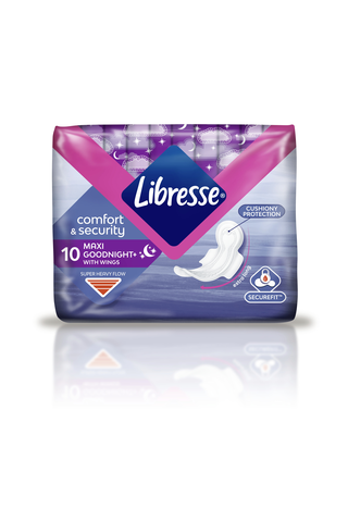 Libresse yöside Maxi Goodnight Wing 10 kpl