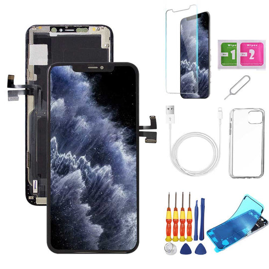 iPhone 11 Pro Max Screen Replacement Package + Glass Protector + Lightning Cable + Case + Repair kit - TYPhonePart