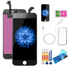 iPhone 6 Screen Replacement Package + Glass Protector + Lightning Cable + Case + Repair kit