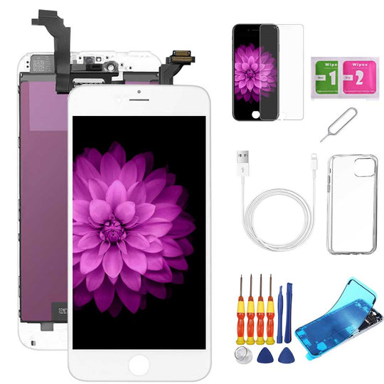 iPhone 6 Plus Screen Replacement Package + Glass Protector + Lightning Cable + Case + Repair kit - TYPhonePart