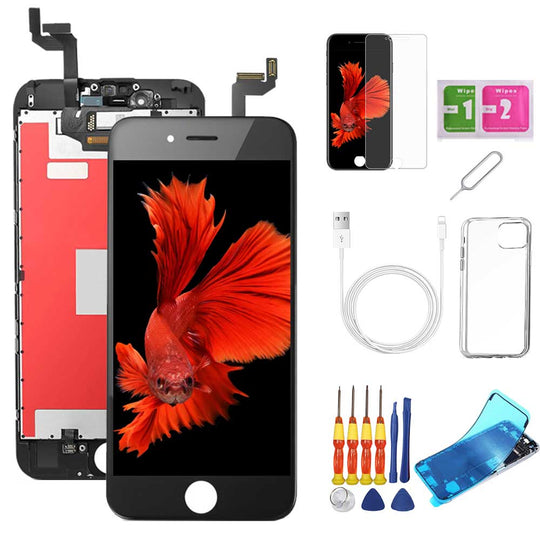 iPhone 6S Screen Replacement Package + Glass Protector + Lightning Cable + Case + Repair kit - TYPhonePart