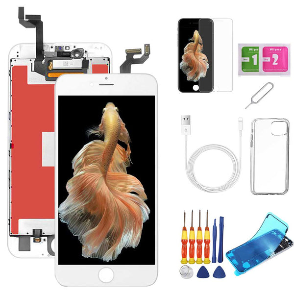 iPhone 6S Plus Screen Replacement Package + Glass Protector + Lightning Cable + Case + Repair kit - TYPhonePart