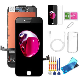 iPhone 7 Plus Screen Replacement Package + Glass Protector + Lightning Cable + Case + Repair kit