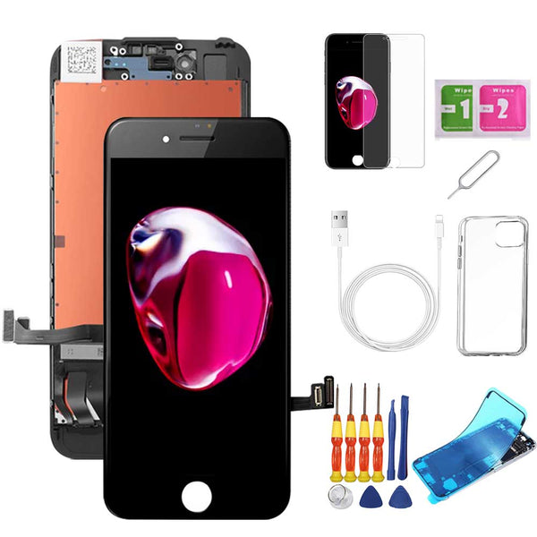 iPhone 7 Plus Screen Replacement Package + Glass Protector + Lightning Cable + Case + Repair kit - TYPhonePart