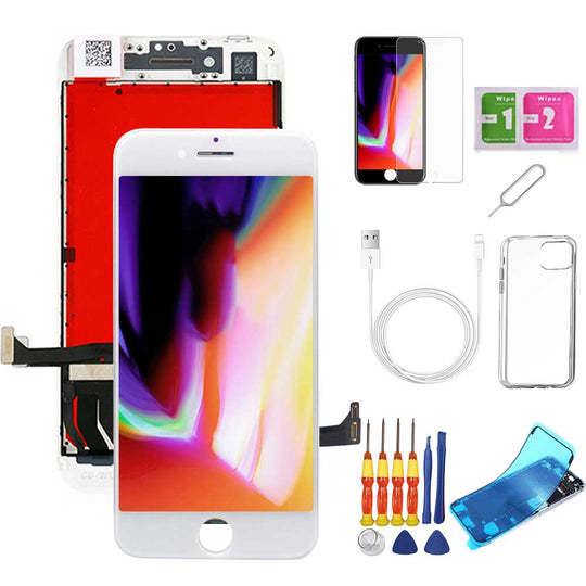 iPhone 8 Plus Screen Replacement Package + Glass Protector + Lightning Cable + Case + Repair kit - TYPhonePart