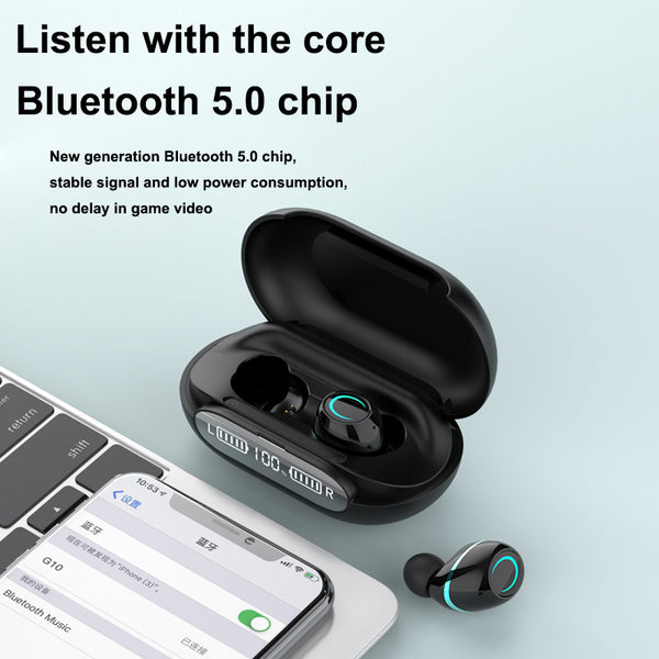 G10 Bluetooth Wireless Waterproof HiFi Earbuds With LED Display - TYPhonePart