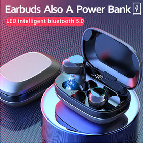 Wireless Noise Cancelling G16 Earbuds Bluetooth 5.0 Hi-Fi Earphones w/ Power Bank