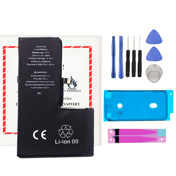 For iPhone XS Premium Battery Replacement + Repair Tools And Two Adhesive - TYPhonePart