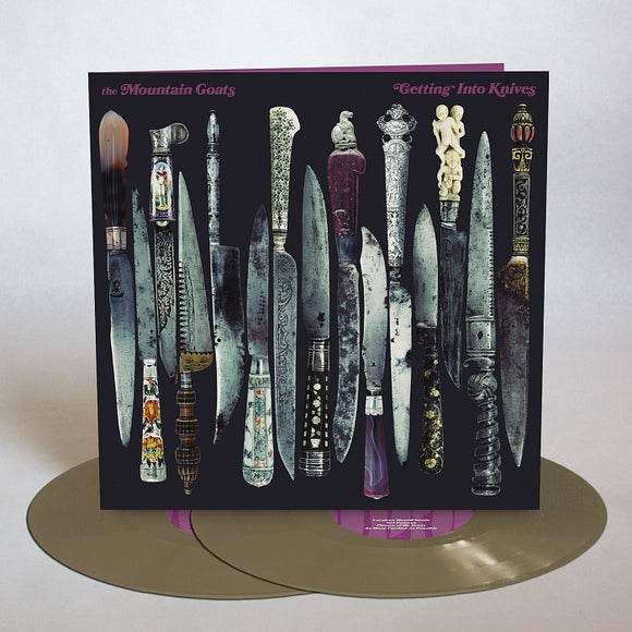 MOUNTAIN GOATS <br><small>GETTING INTO THE KNIVES 2xLP  (METALLIC GOLD)<br>out 10/23/2020<br></small>