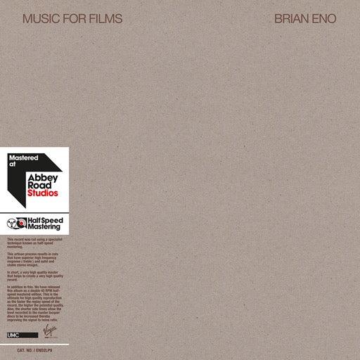 ENO,BRIAN <br/> <small>MUSIC FOR FILMS (OGV)</small>