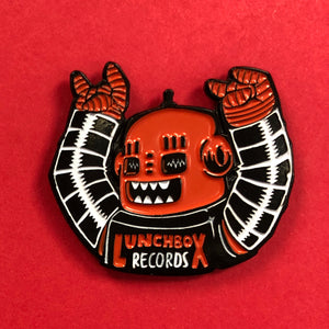 Lunchbox Records Robot Enamel Pin