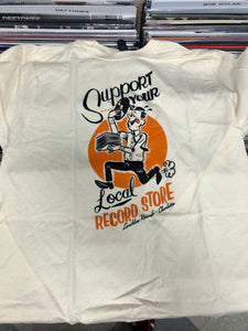 Support Your Local Record Store Shirt - Natural