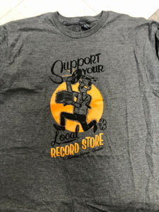 Support Your Local Record Store Shirt - Charcoal