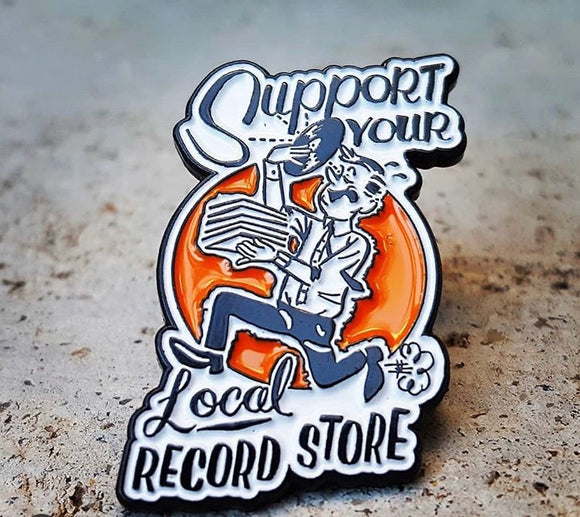Support Your Local Record Store Enamel Pin