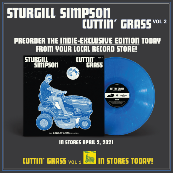 SIMPSON,STURGILL <br><small>CUTTIN' GRASS LP (BLUE) <br>PREORDER out 4/2/2021<br></small>