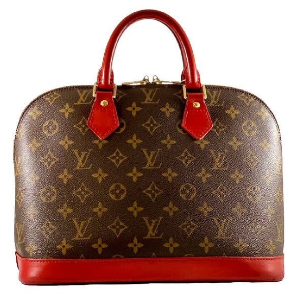 LOUIS VUITTON Monogram Alma w/ Red-dyed Details - CUSTOM