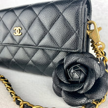 Load image into Gallery viewer, Timeless CHANEL Caviar Leather Matelasse Wallet on Chain