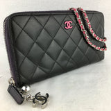 Timeless CHANEL Zip Wallet on Micro Chain