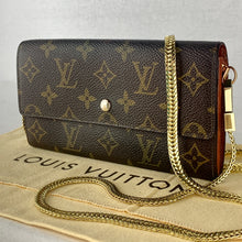 Load image into Gallery viewer, LOUIS VUITTON Sarah Wallet on Braided Chain