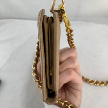 Load image into Gallery viewer, CHANEL Wild Stitch Caviar Leather Wallet on Braided Chain