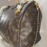 Custom Pearl & Leather LOUIS VUITTON Speedy 30