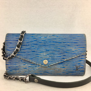 LOUIS VUITTON Epi Denim Sarah Wallet on Leather Chain