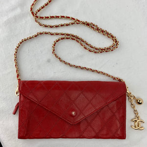 CHANEL♥️Wild Stitch Flap Wallet on Micro Chain