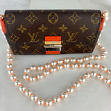 LOUIS VUITTON Elysee Wallet on Pearl Chain