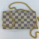 LOUIS VUITTON Damier Azur WOC & Genuine LV Charm