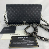 CHANEL Triple Stitch Wallet on Braided Chain