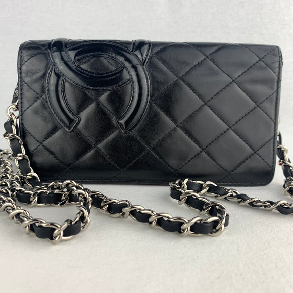 CHANEL Cambon Lambskin Wallet on Chain