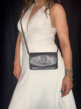 Load image into Gallery viewer, CHANEL Navy Lambskin Flap Wallet on Chain