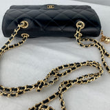CHANEL Matelasse Lambskin Flap Wallet on Chain