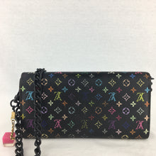 Load image into Gallery viewer, LOUIS VUITTON Black Multicolor Sarah Wallet on Chain