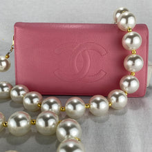 Load image into Gallery viewer, CHANEL CC Logo Wallet on Pearl Chain