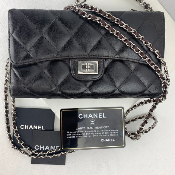 CHANEL Timeless Matelasse 2.55 Flap Wallet on Chain